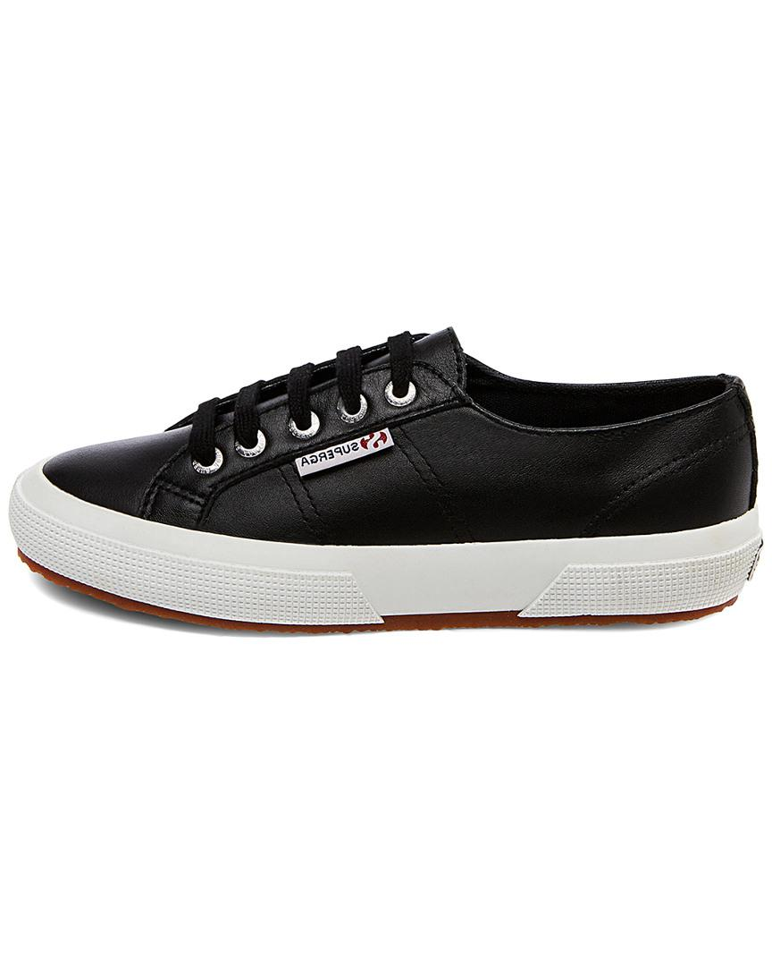 Superga 2750-nappaleau Leather Sneaker in Black