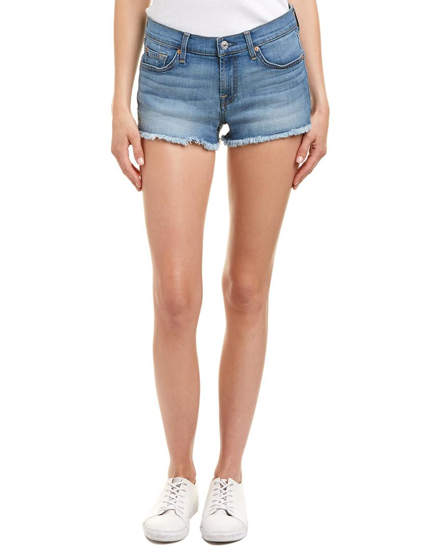 1ca812bdb9b93 7 For All Mankind. Women s Blue 7 For All Mankind Bright Palms Cut Off Short