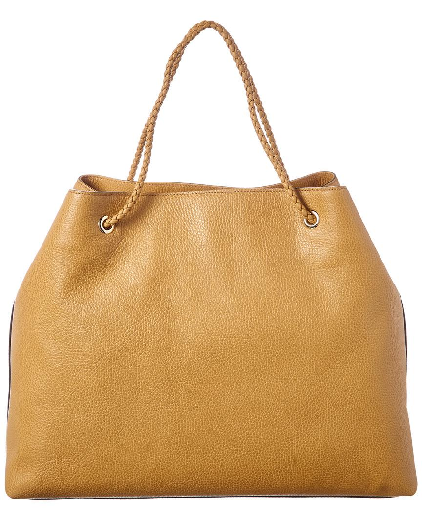 a985c8d49cc Lyst - Gucci Beige Leather Rope Handle Tote in Natural