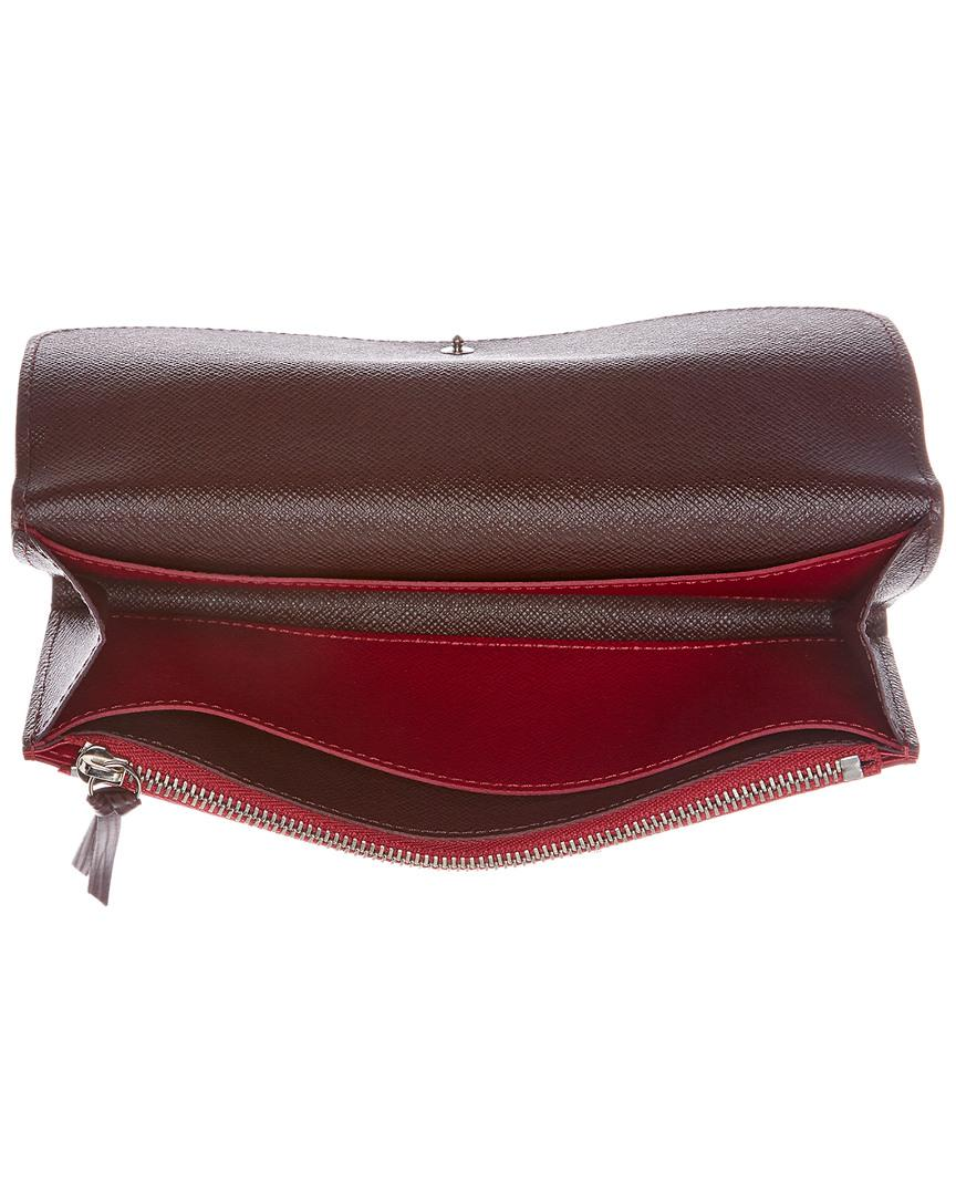 343a24b42175 Louis Vuitton Fuchsia Epi Leather Emilie Wallet in Red - Lyst