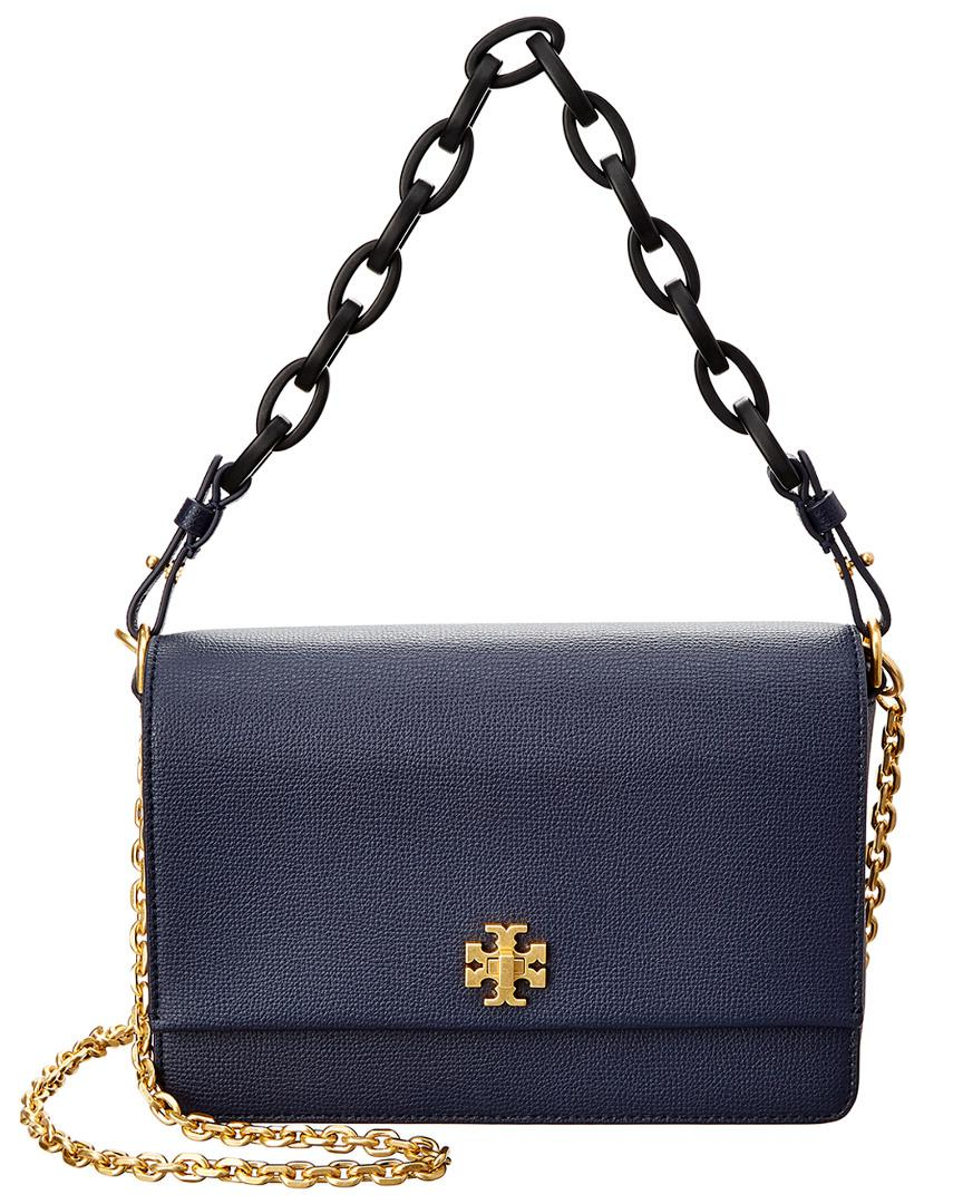 d6a0ad8b3bb Lyst - Tory Burch Kira Leather Shoulder Bag in Blue - Save ...