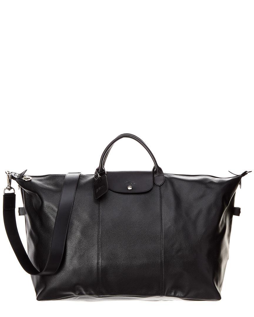 Le Foulonne Xl Leather Travel Bag