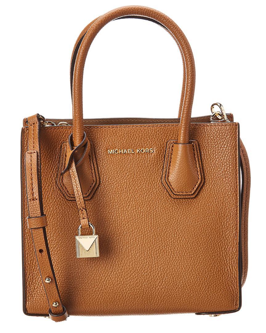 0b80f650e26 MICHAEL Michael Kors. Women s Brown Michael Kors Mercer Medium Leather  Messenger Bag