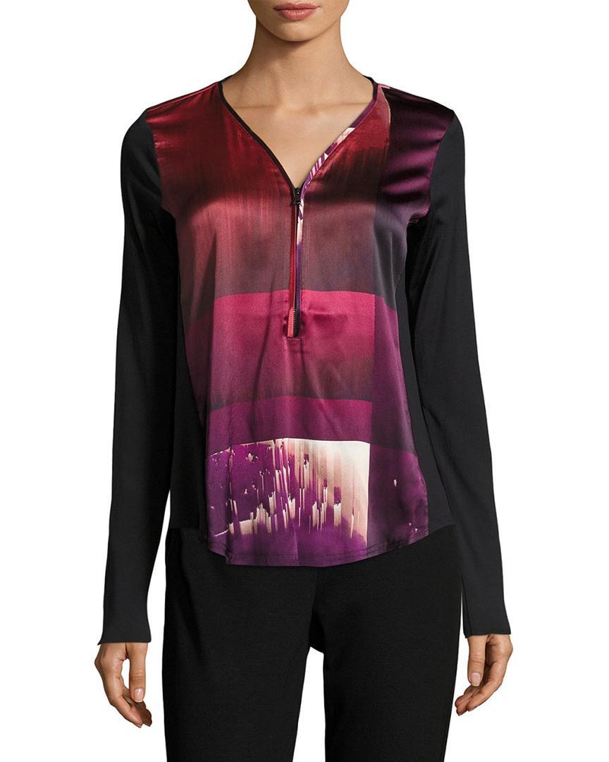 1e75209cd3f83d Go  By Go Silk Go Zippy Silk Printed Blouse - Save 14% - Lyst