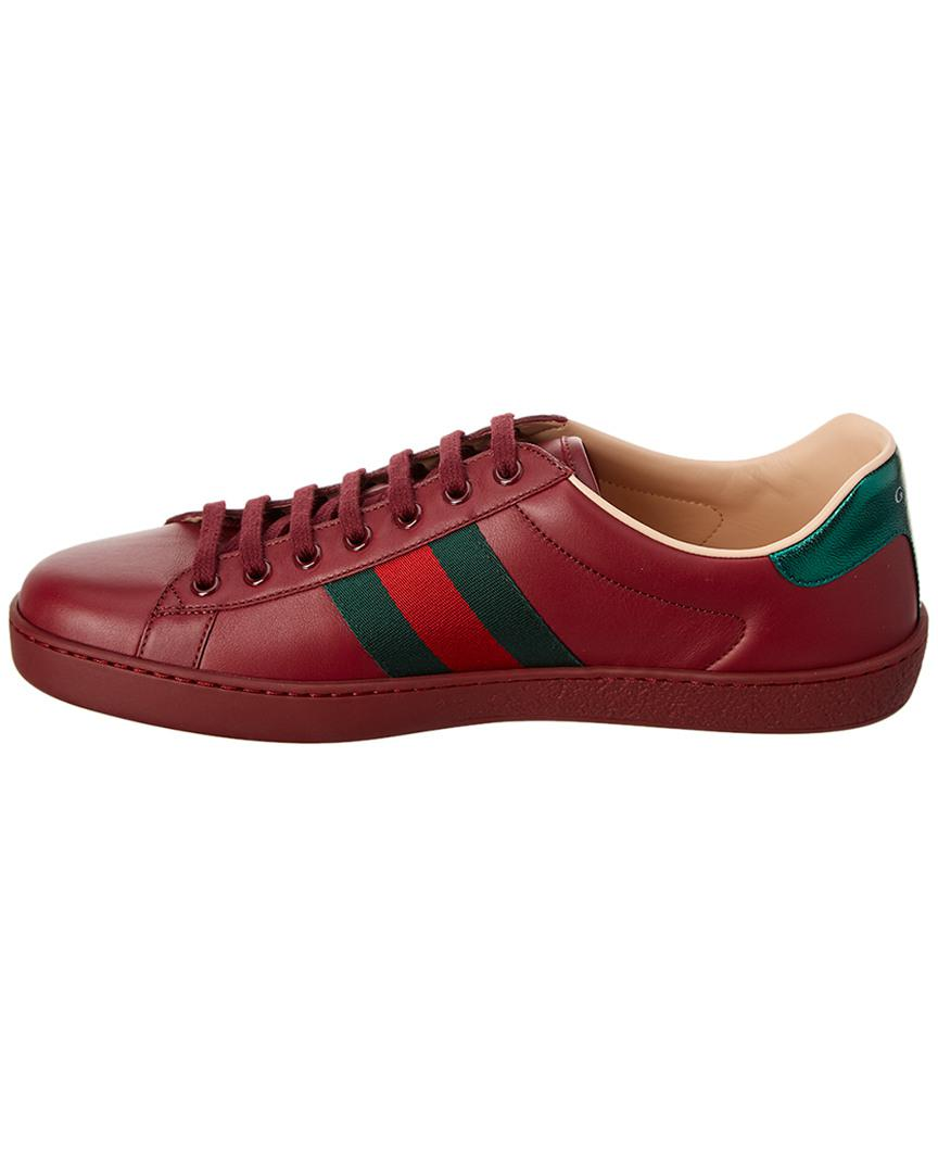 Gucci Ace Butterfly Embroidered Leather