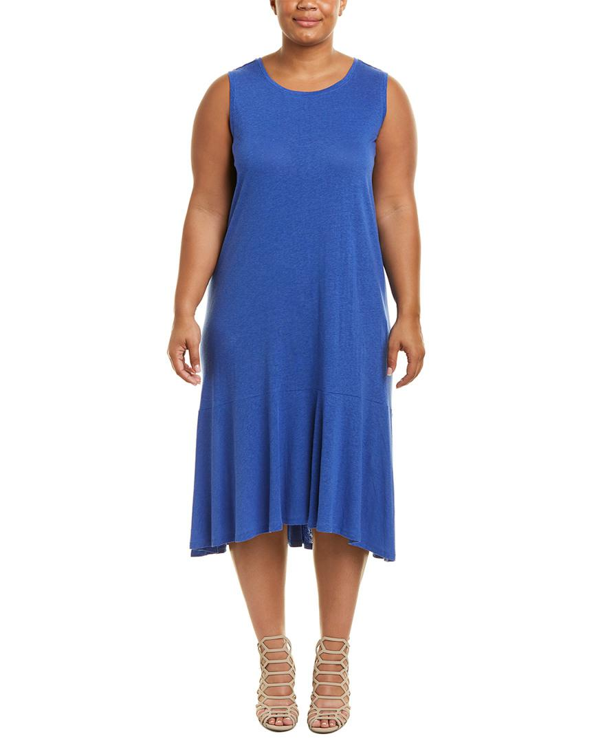 013bb02f388 Lyst - Nic+Zoe Linen-blend Midi Dress in Blue
