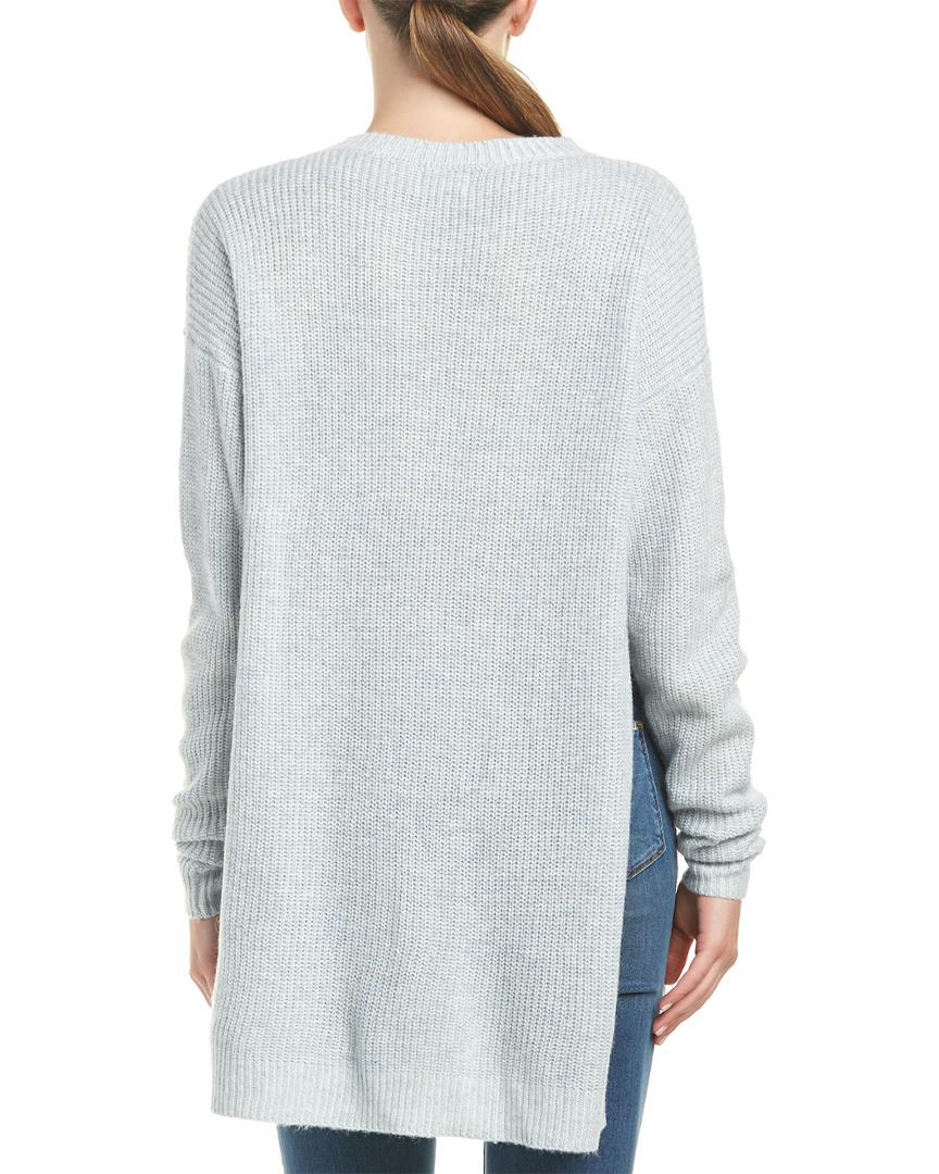 Six crisp days Side Slit Tunic Sweater in Blue - Save 34% | Lyst