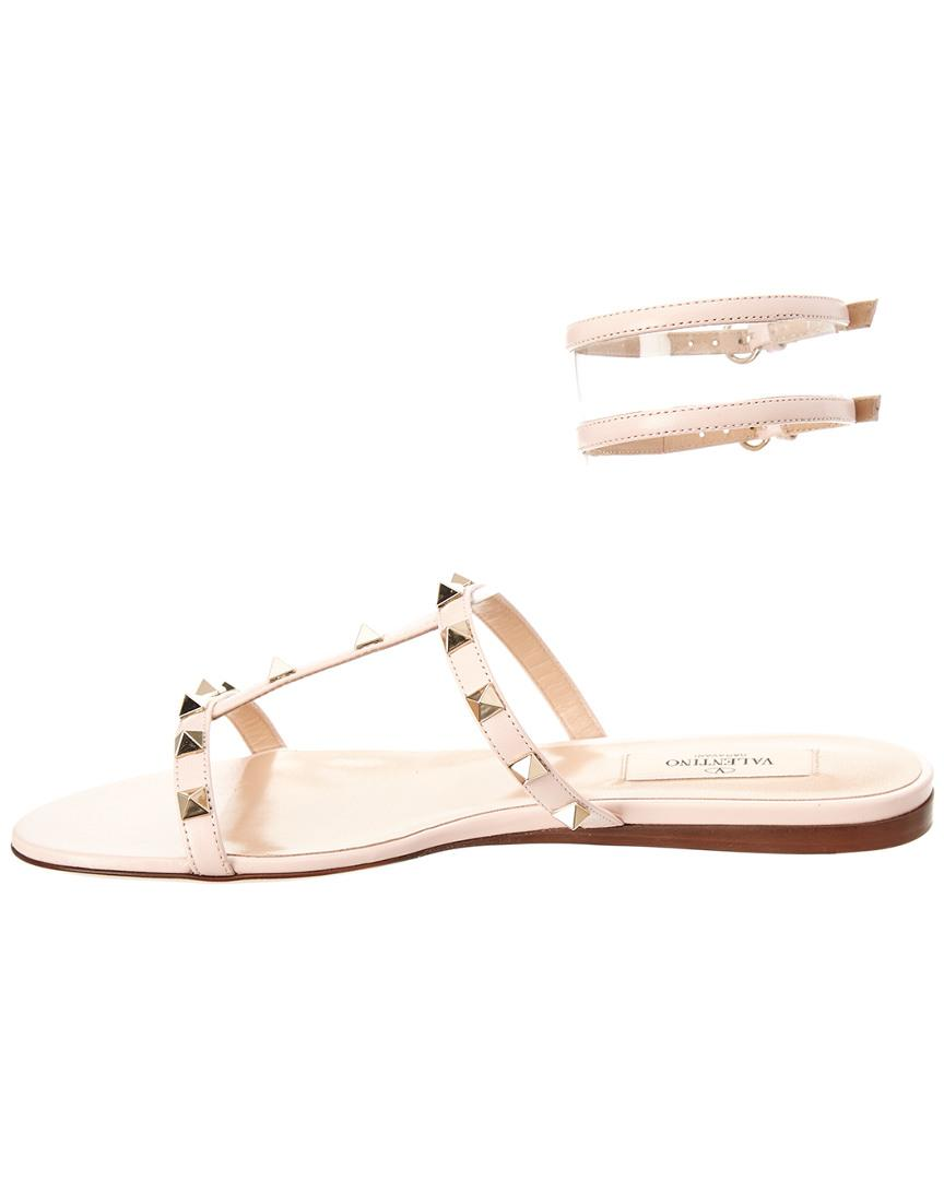 53adb254ae2531 Valentino Moonwalk Studded Leather Gladiator Sandal in Pink - Save  0.25974025974025494% - Lyst