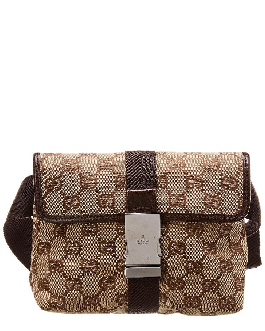 4a34680c15f Gucci - Brown GG Canvas   Leather Belt Bag - Lyst. View fullscreen