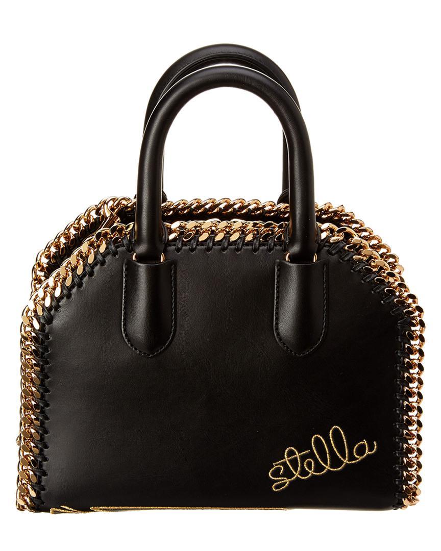 Stella McCartney Falabella Embroidered Box Tote in Black