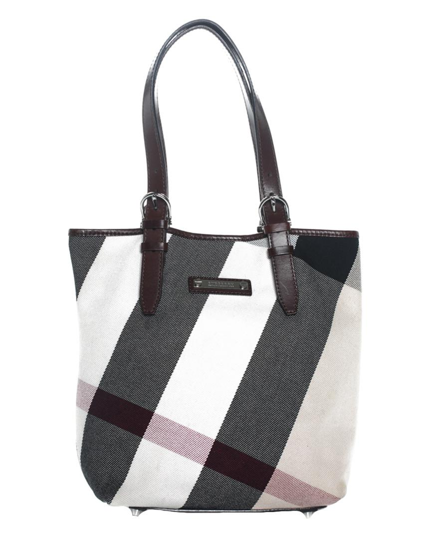 Black White Canvas Exploded Check Tote