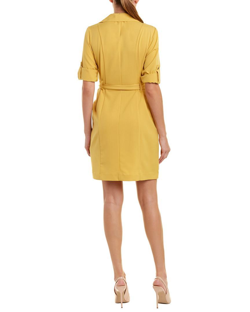 Lyst Sharagano Shirtdress In Yellow