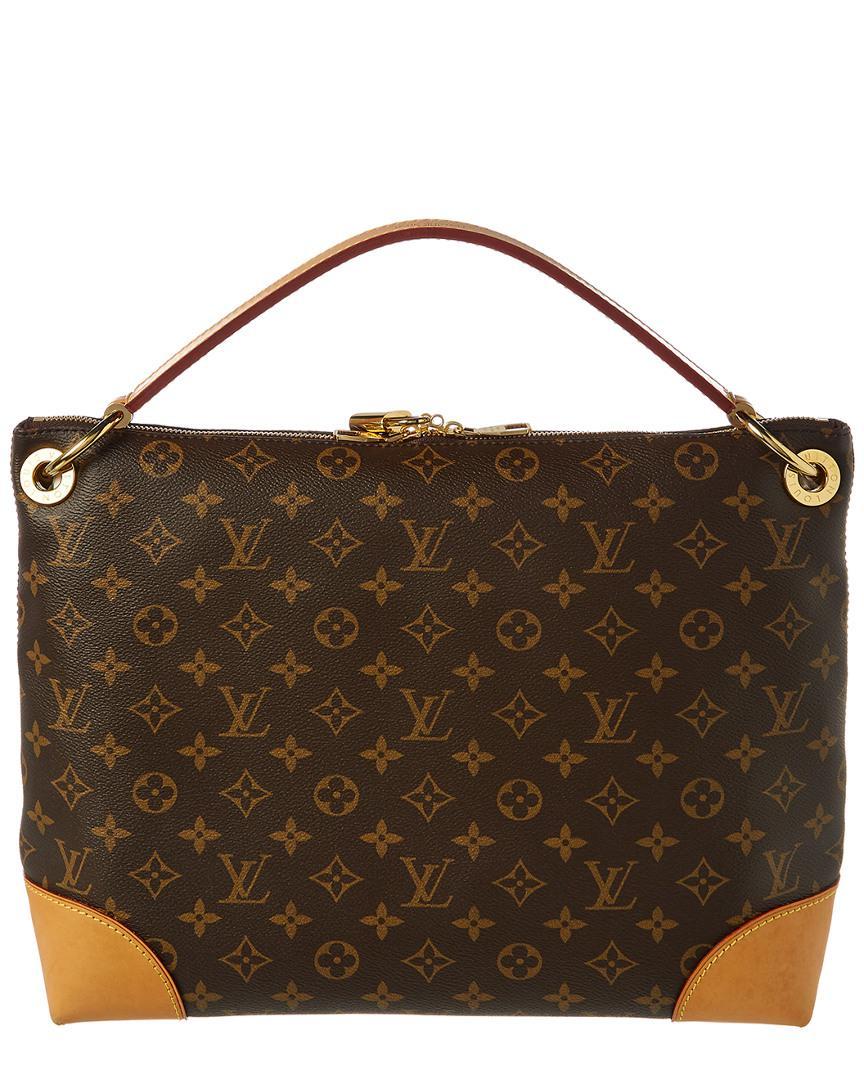fa328916791b Louis Vuitton Monogram Canvas Berri Pm in Brown - Lyst