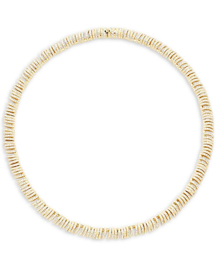 Adriana Orsini Artemis Pavé Crystal Necklace in Gold (Metallic)
