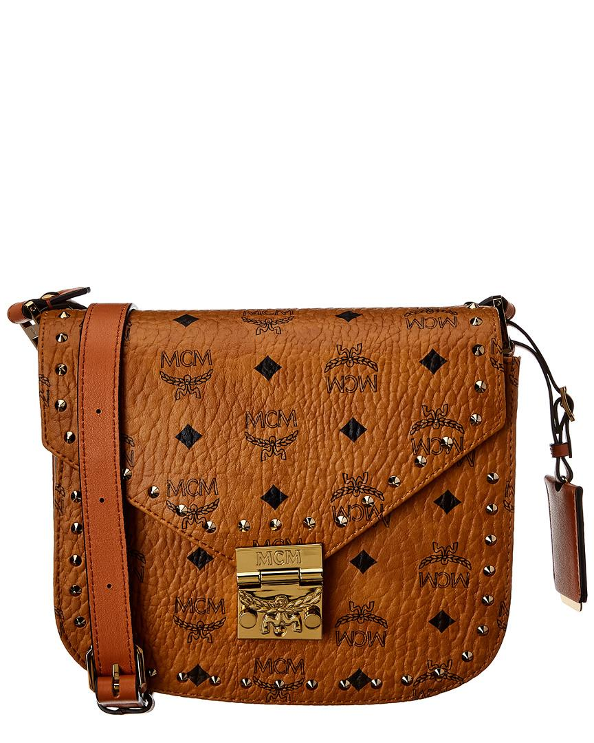 602c1e4aa75d MCM - Brown Patricia Studded Small Visetos Shoulder Bag - Lyst. View  fullscreen