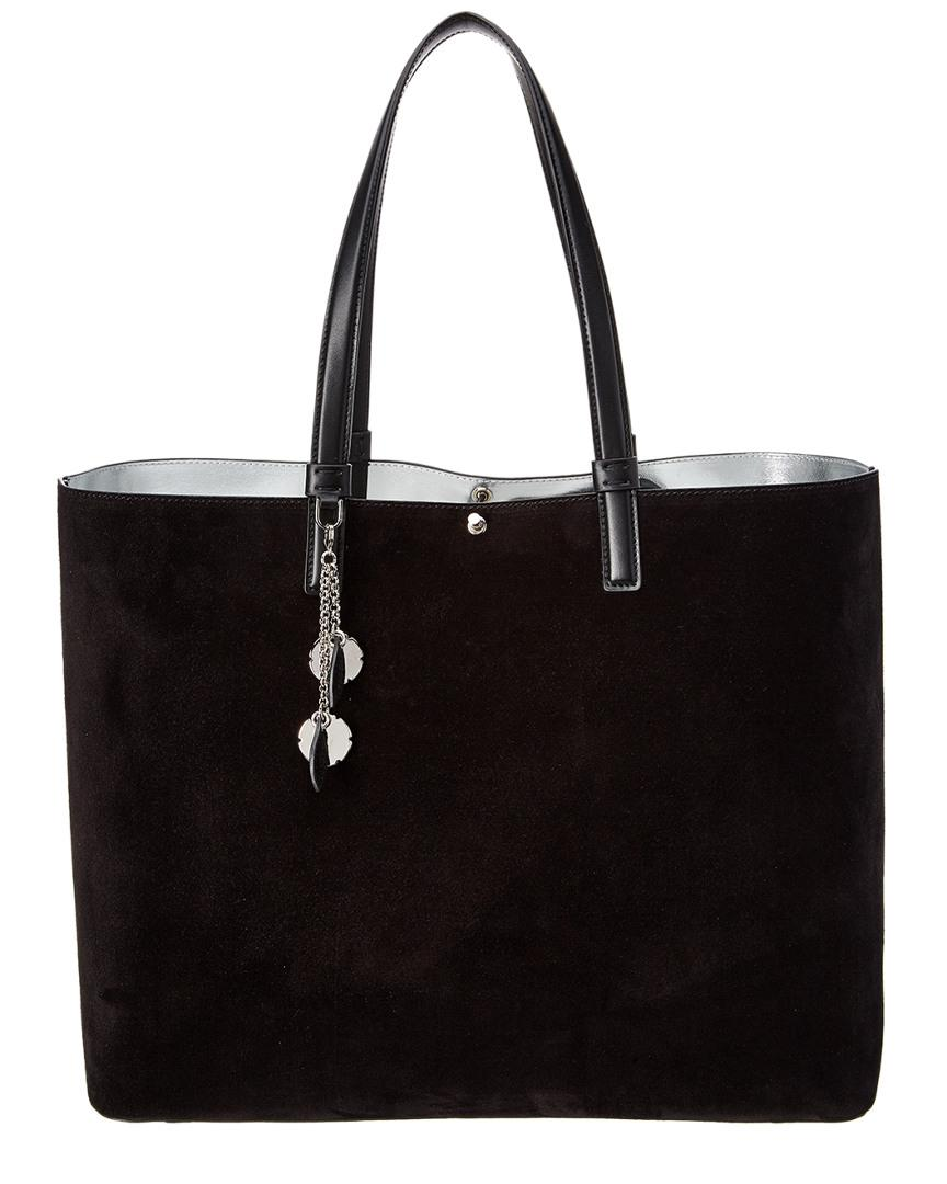 Ferragamo Scarlet Large Reversible Leather   Suede Tote in Black - Lyst e91dc71fc5ebd