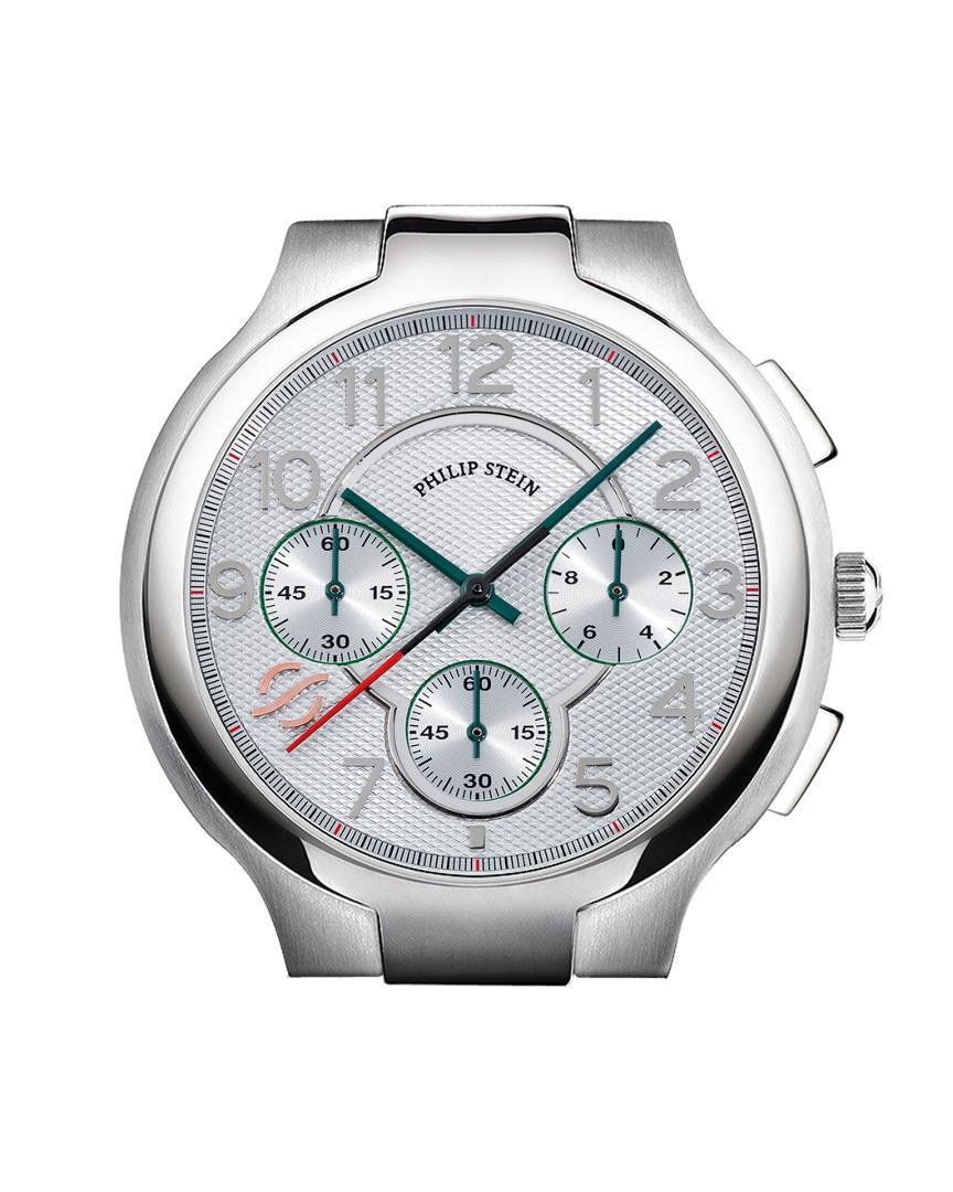Philip Stein Men S Metallic Signature Watch Case Extra Large