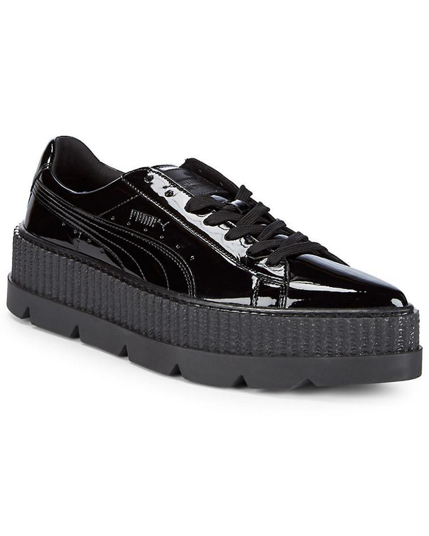 puma pointy creeper patent platform sneakers