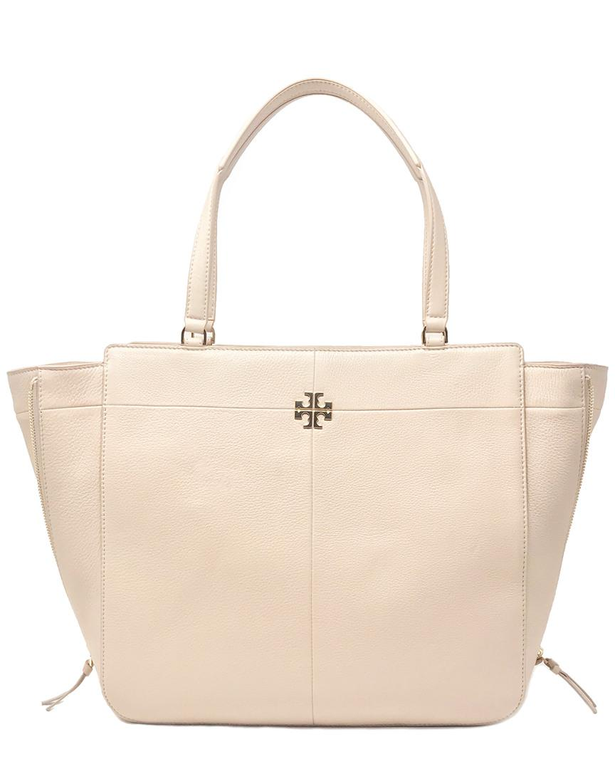 973c790700f Tory Burch. Women s Ivy Side-zip Leather Tote