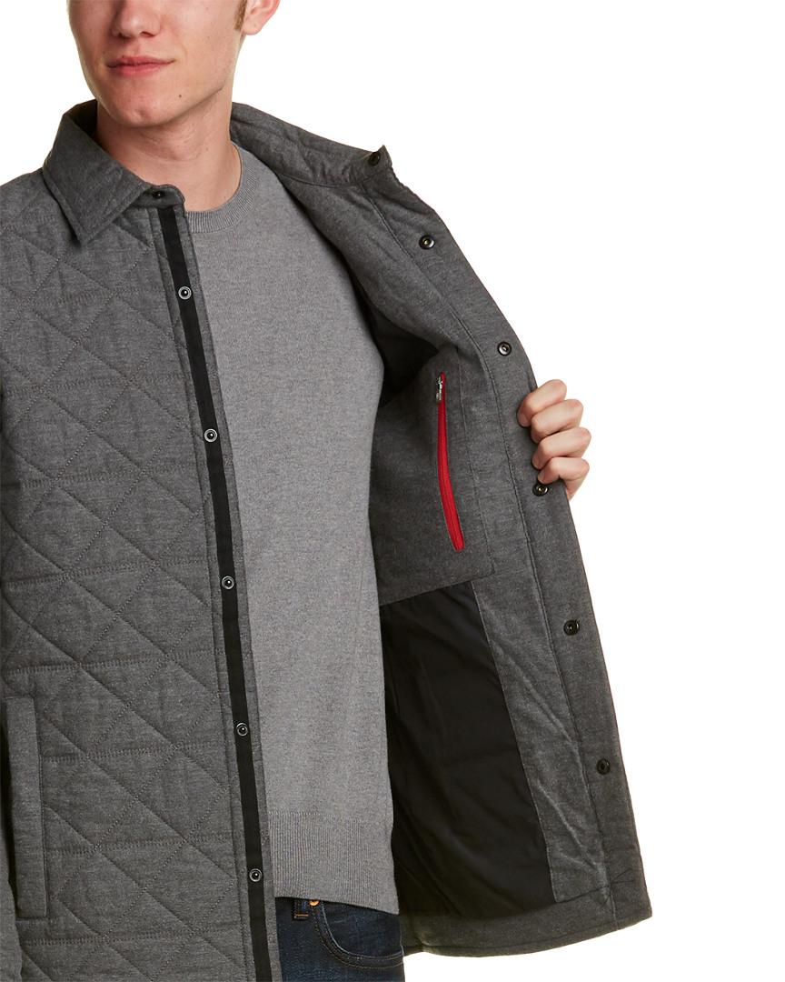 Victorinox Cotton Swiss Army Tailored Fit Quilted Jacket in Grey (Grey) for Men