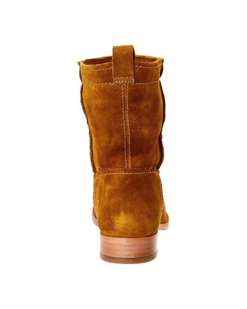 Frye Women's Cara Suede Short Boot in Dark Brown (Brown)