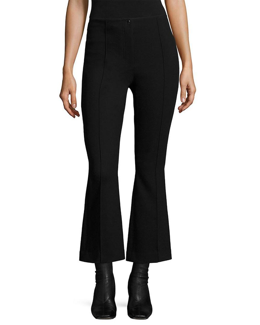 75c108f241a6d3 Helmut Lang Cropped Scuba Flared Pant in Black - Save ...