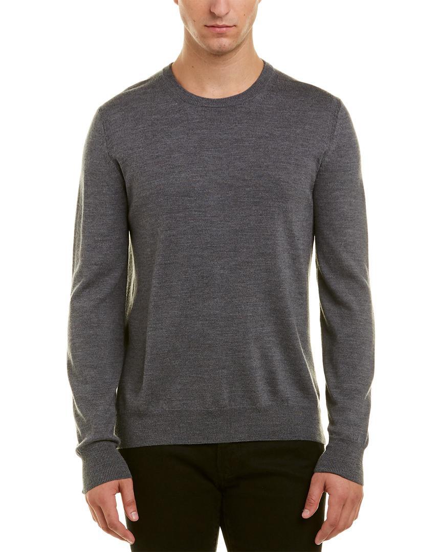 7da1b4ebbbb5 Burberry Wool Crewneck Sweater in Gray for Men - Lyst