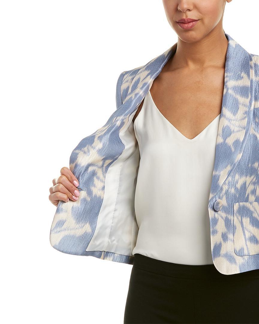ESCADA Silk-blend Blazer in Blue