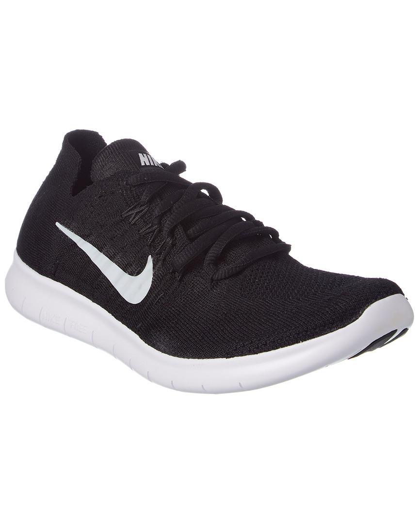 Nike Women S Free Rn Flyknit 2017 Running Shoe In Black Lyst