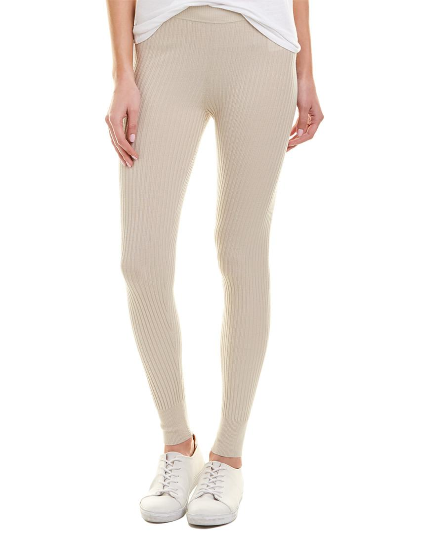 6a928f48d Vince Ribbed Wool-blend Legging in Natural - Lyst