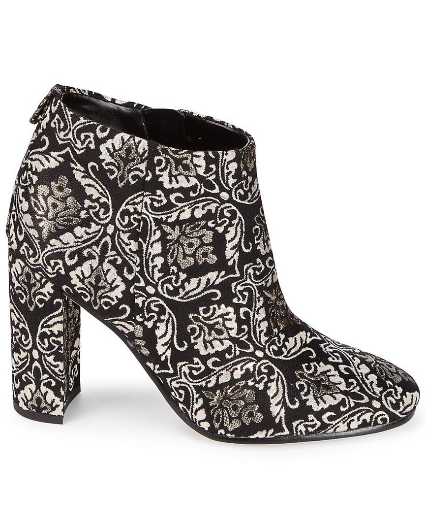 Sam Edelman Leather 'cambell' Floral Damask Ankle Boots in Black Gold (Black)