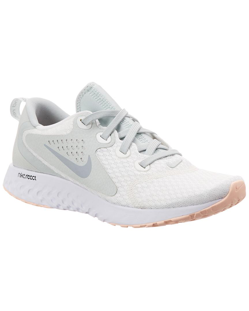 lowest price bcf9b 3b115 Nike. Womens White Legend React Running Shoe