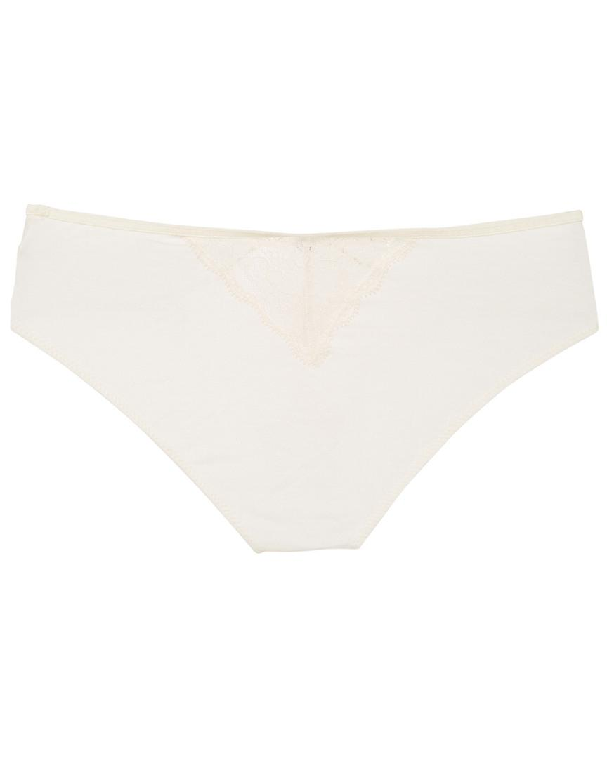 0e00bcab007 Lyst - Eberjey Malou Lace Brief in Natural