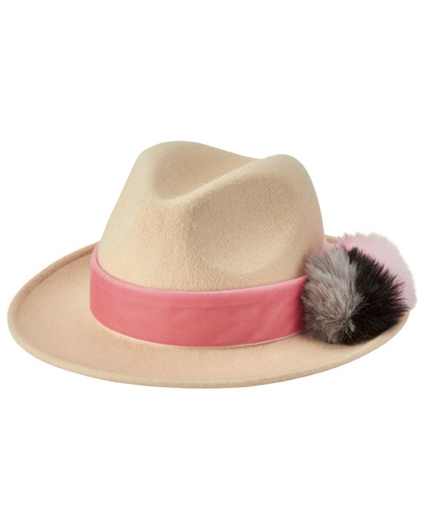 3b50cd5f866 Lyst - San Diego Hat Company Wool Felt Fedora Wfh8200 in White ...
