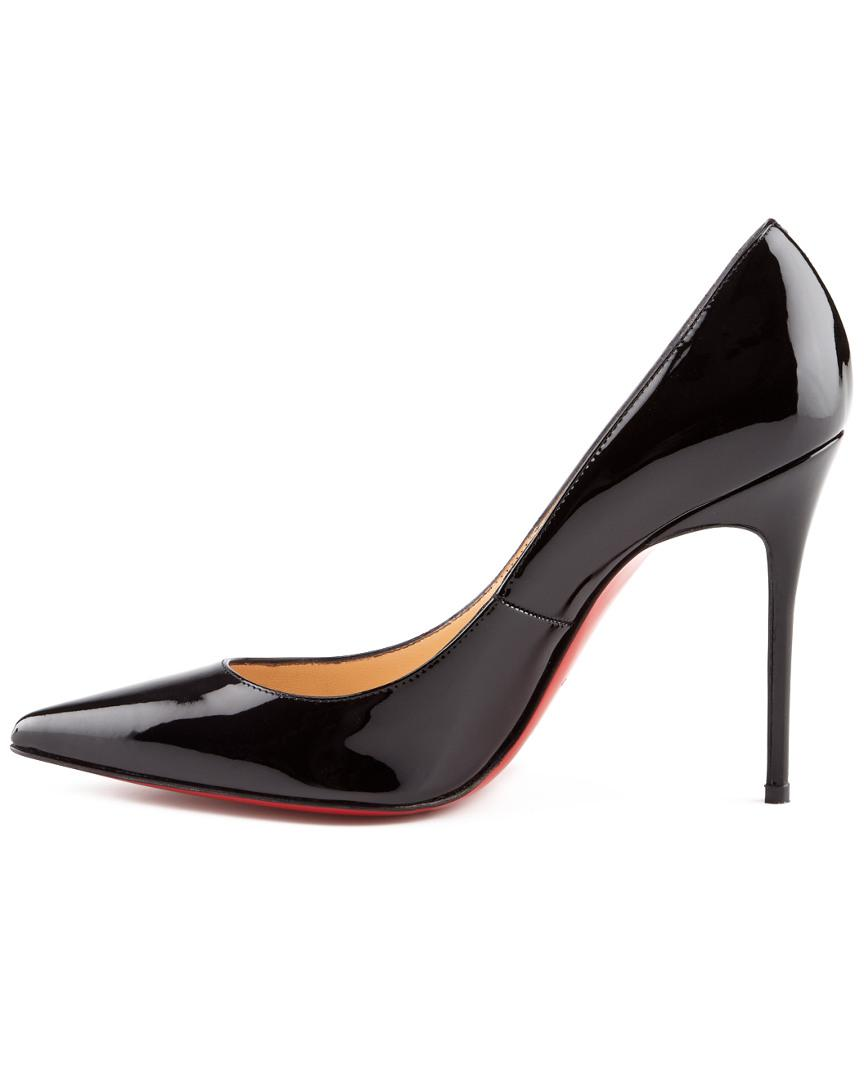 4b442bc2aa5 Lyst - Christian Louboutin Decollete 554 100 Patent Pump in Natural