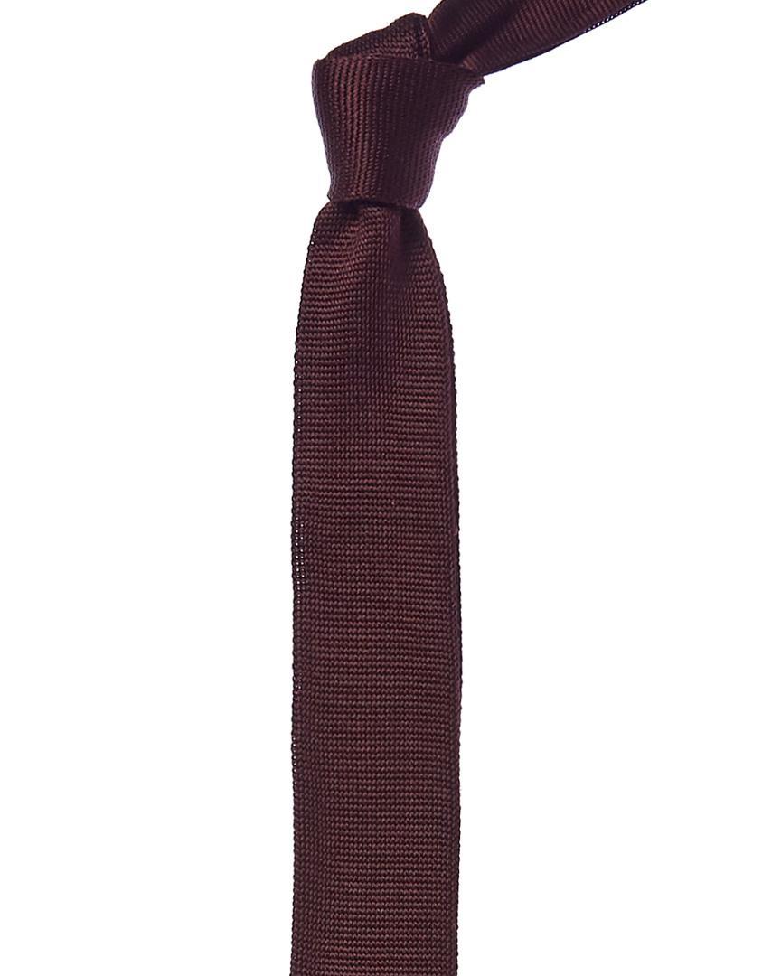 48b9789e0925 Lyst - Reiss Bordeaux Silk Tie in Red for Men