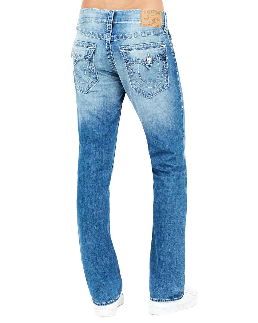3005edee6 Lyst - True Religion Straight Flap Natural Big T Soft Story Straight Leg in  Blue for Men