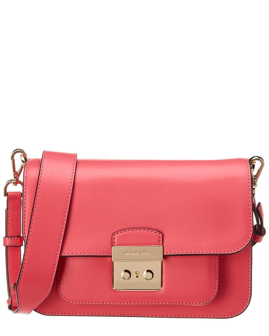 c4e75963ea90be MICHAEL Michael Kors. Women's Pink Michael Kors Sloan Editor Large Shoulder  Leather Bag
