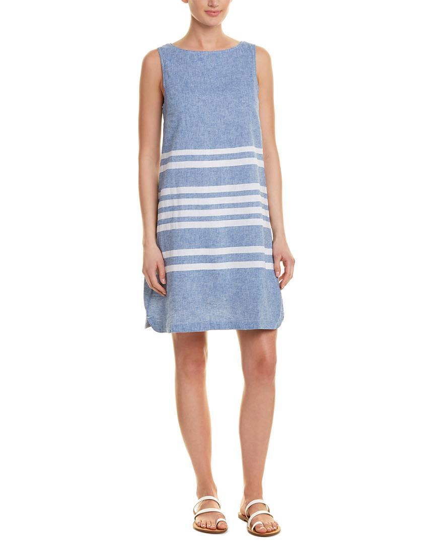 3cbc793cad Lyst - Beach Lunch Lounge Linen-blend Shift Dress in Blue