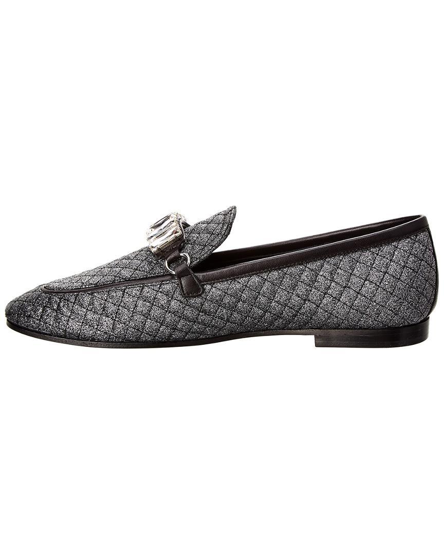 323d16406f4 Lyst - Giuseppe Zanotti Letizia Glitter Leather Loafer in Gray - Save  0.2631578947368354%