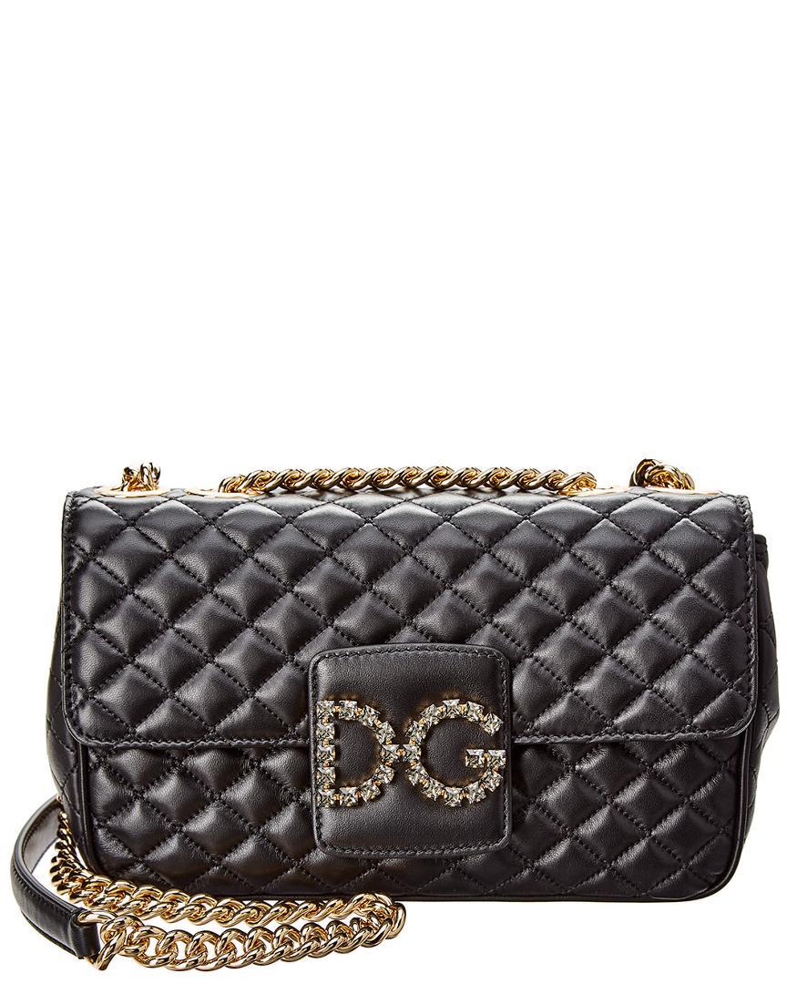 Lyst - Dolce   Gabbana Dg Millennials Leather Shoulder Bag in Black ... 040b97c0de06c