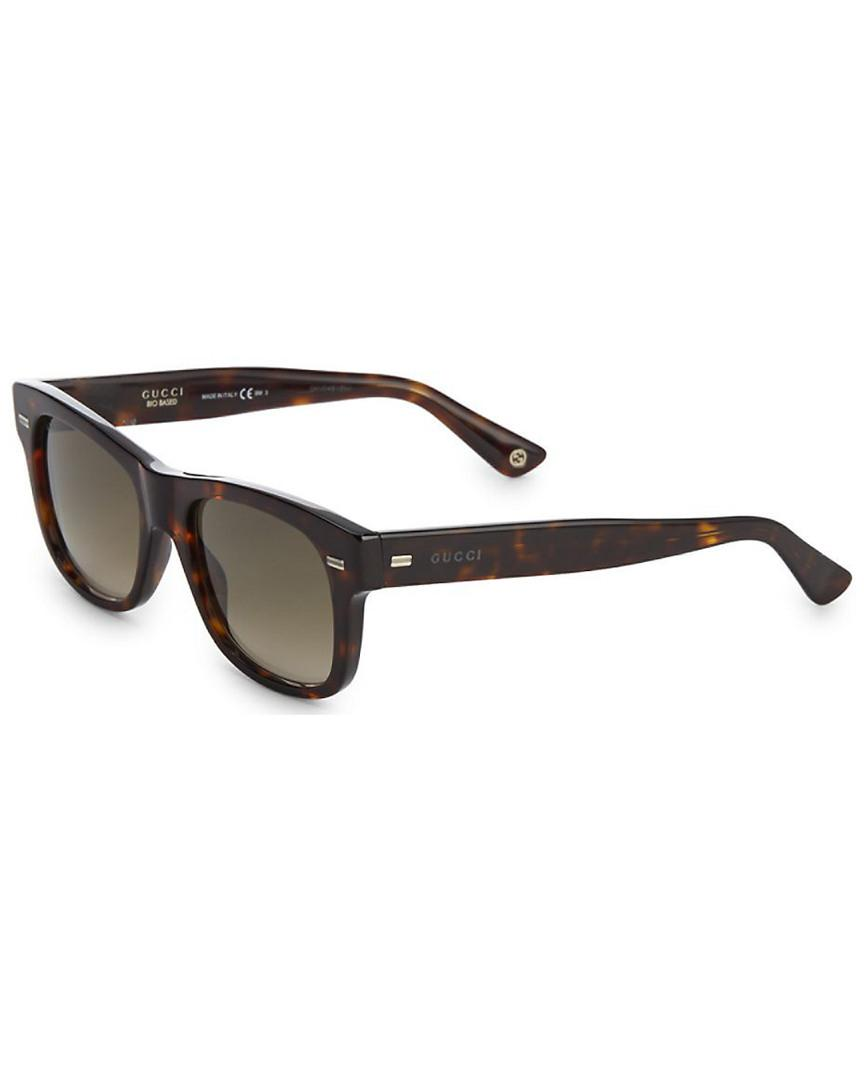 e2dcd4a142a11 Gucci - Brown Havana 52mm Tortoiseshell Square Sunglasses for Men - Lyst.  View fullscreen