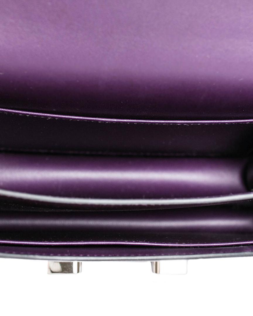 cb84892b18 Lyst - Hermès Raisin Box Calf Leather Mini Constance in Purple
