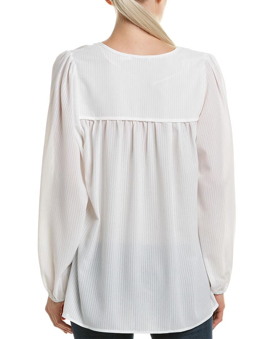 ac3056919c404 Lyst - Bishop + Young Peasant Top in White