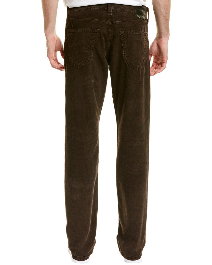 AG Jeans Corduroy The Graduate Sulfur Coyote Tailored Leg for Men
