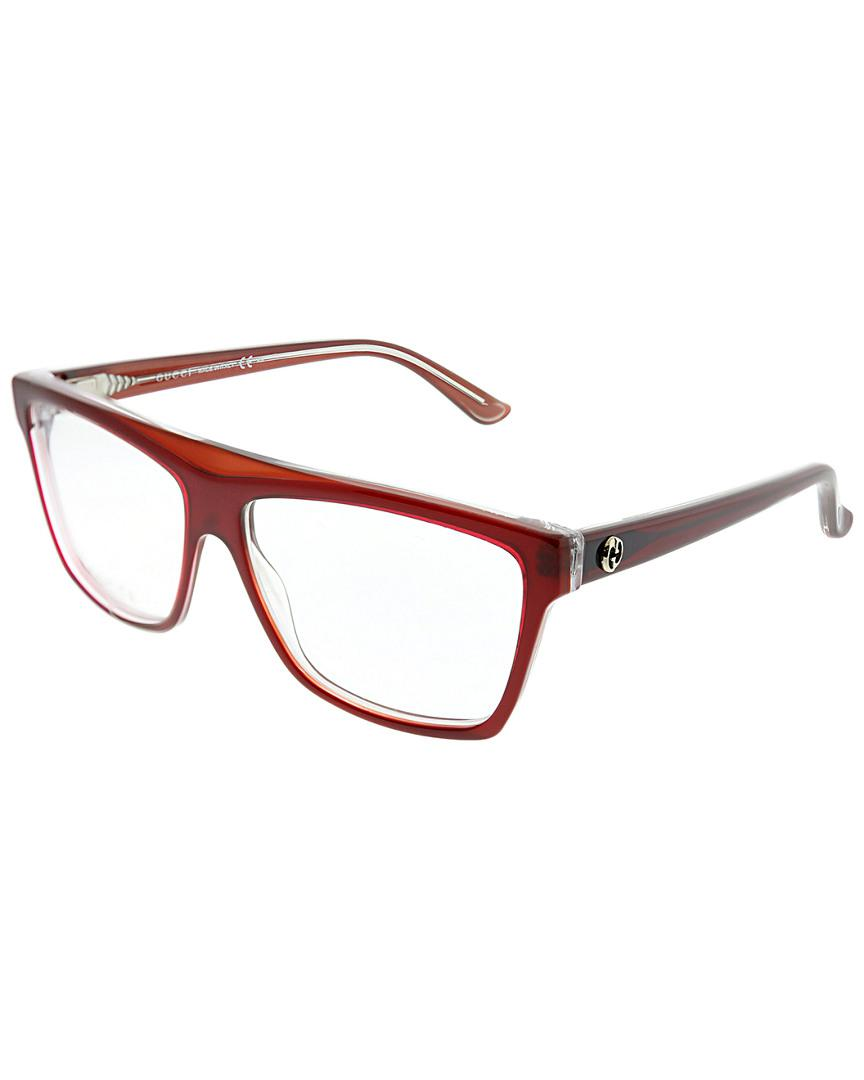 706cd3bd24 Gucci Unisex Square 55mm Optical Frames in Brown - Lyst