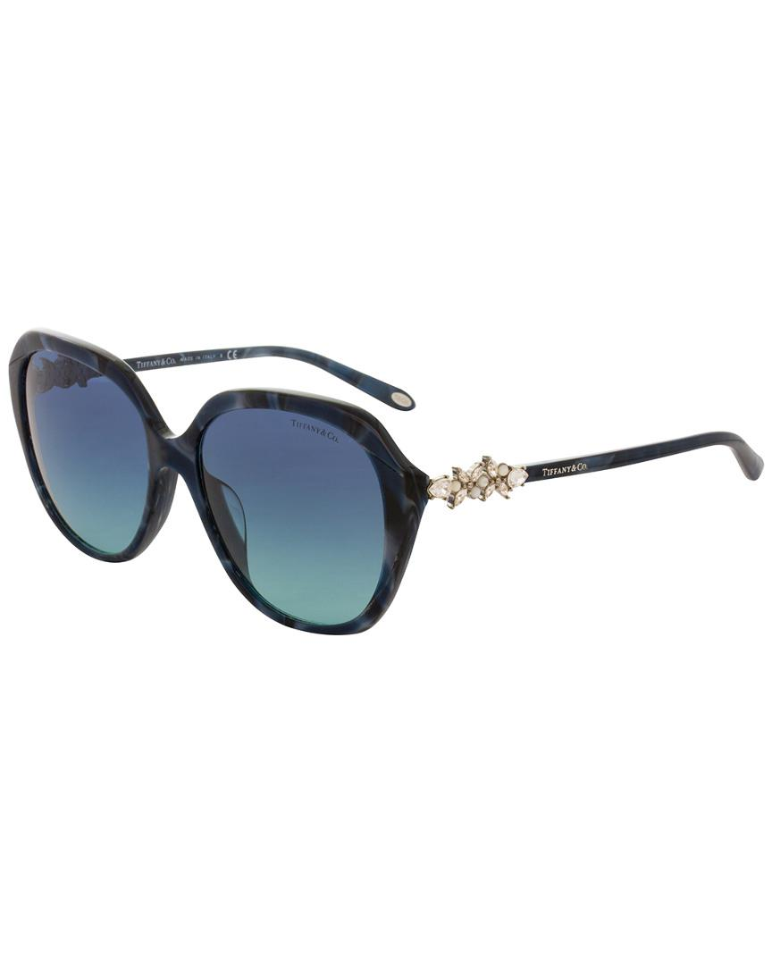 Tiffany & Co. Women's Tf4132bf 57mm Sunglasses in Blue
