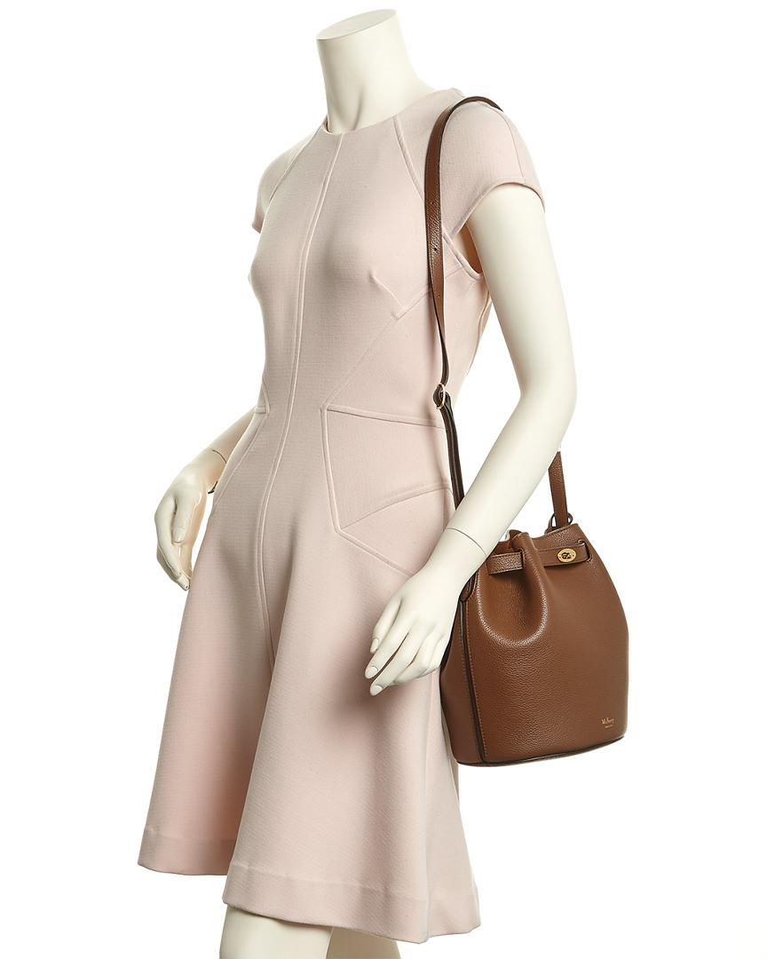 40b7bf2fd4 Lyst - Mulberry Abbey Oak Small Classic Grain Leather Bucket Bag in ...