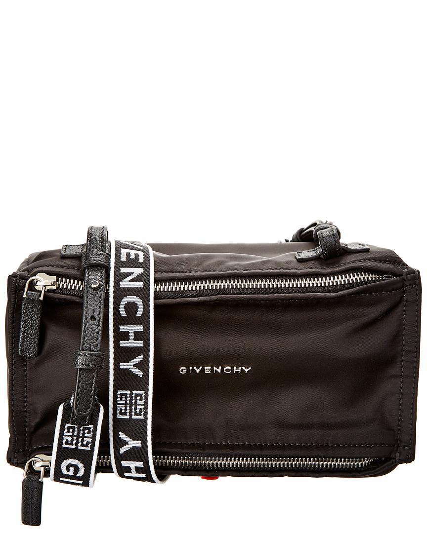 4cf1ec4172 Givenchy - Black 4g Pandora Mini Nylon   Leather Shoulder Bag - Lyst. View  fullscreen