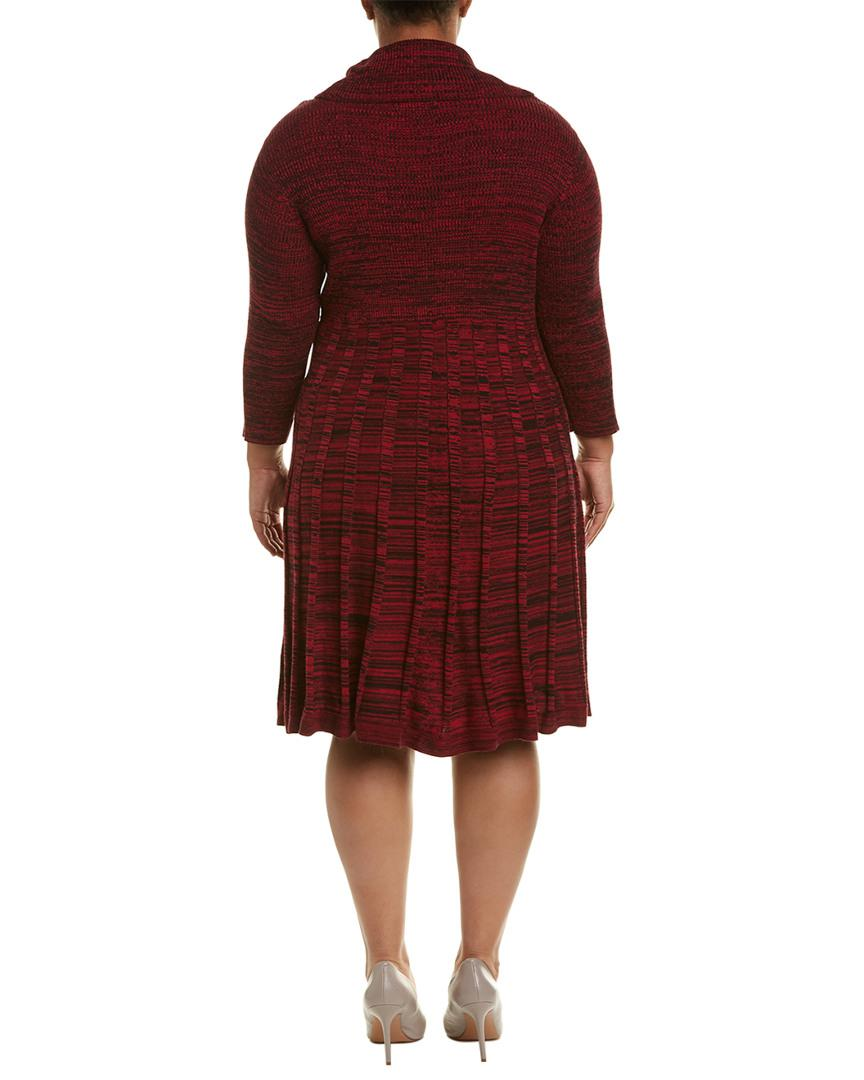 b323edf0fc7 Lyst - Sandra Darren Ribbed A-line Dress in Red